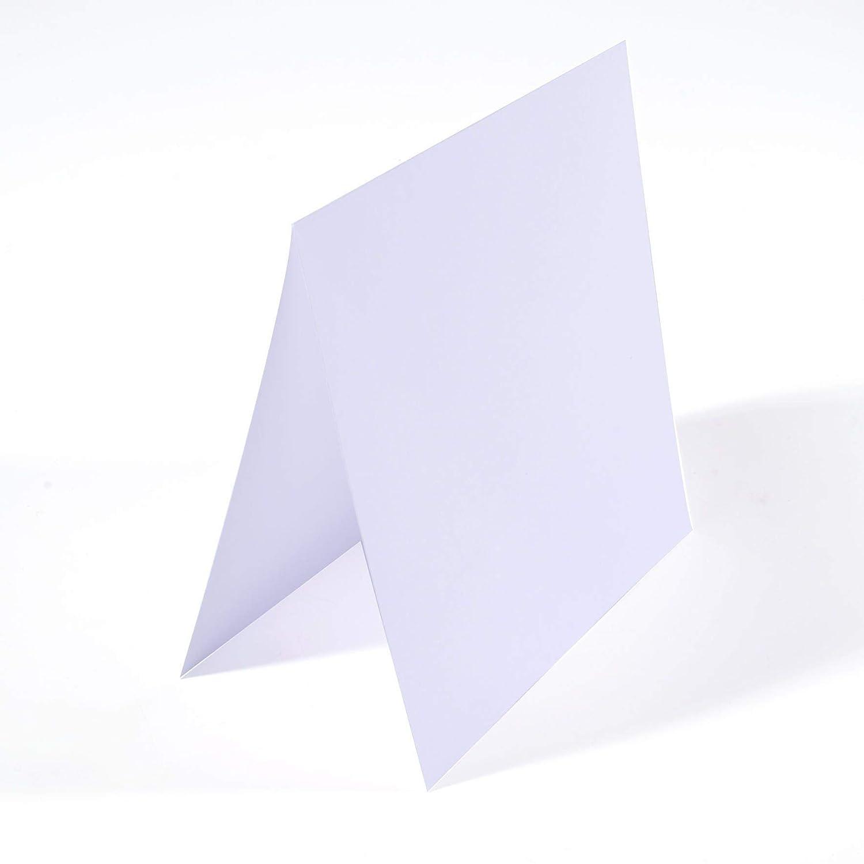 Bianche Set di 25 Biglietti Vuoti Quadrati Piccoli Florence di Vaessen Creative per Progetti Creativi Buste Coordinate Disponibili