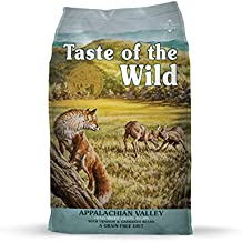 Taste of the Wild Appalachian Valley Grain Free High Protein Real Meat Small Breed Recipe Natural Dry Food with Real Roasted Venison 14lb
