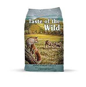 Taste of the Wild Appalachian Valley Grain Free High Protein Real Meat Small Breed Recipe Natural Dry Food with Real Roasted Venison 5lb