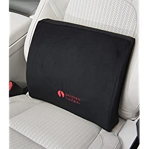 Posture Cushion - Plush Memory Foam Lumbar Support Cushion With Soft Memory Foam And Wide Adjustable Strap. Great For Improving Posture And Pain Relief. Helps Prevent Back Pain While Sitting In The Car Home And Office. Available With Soft Black Velvet Cover. Great Quality And Value For Money.