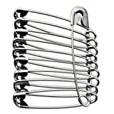 Large Safety Pins Size 4 / 52mm 50Pcs Silver