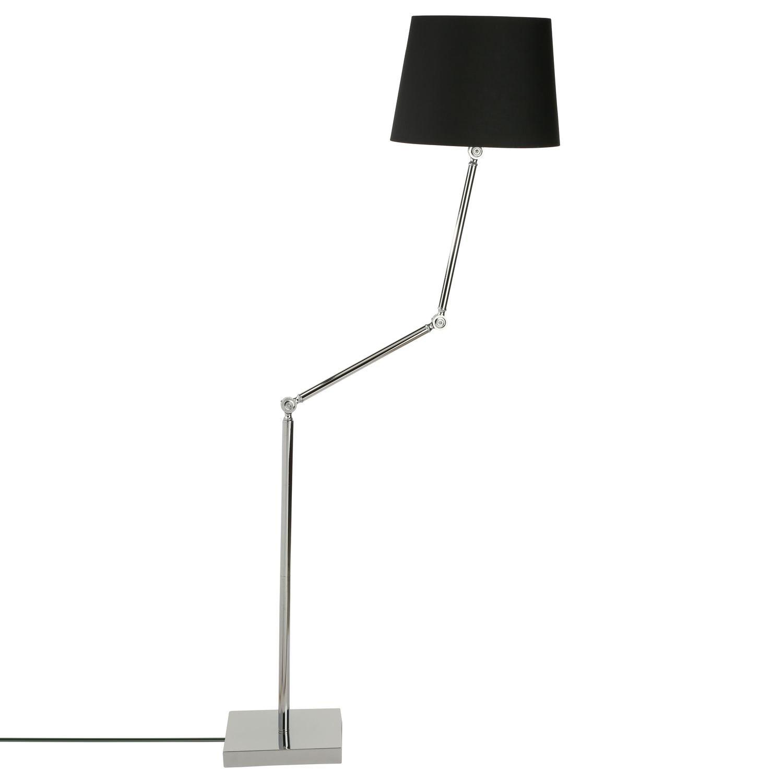 Lámpara de pie articulada de 185 cm de alto, de color negro ...