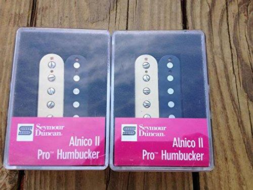 [Seymour Duncan APH-1 Alnico II Pro Neck & Bridge Pickup Set Zebra Humbucker] (Pro Humbucker)