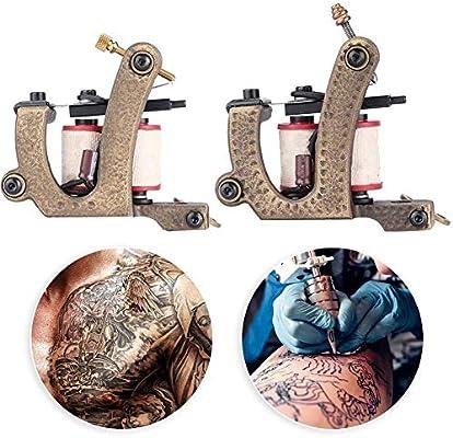 Máquina de tatuaje de bobinas de latón Cimenn 2 piezas Máquina de ...