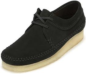 Clarks Men's Weaver Shoes, Black Suede