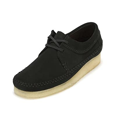 CLARKS Originals Mens Weaver Black Suede Shoes 8 US