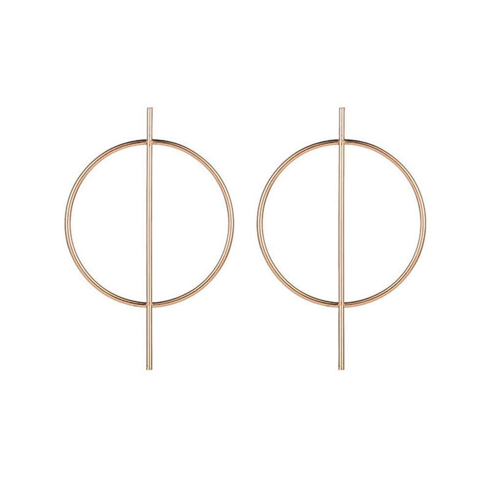Eightgo Oversize Geometric Earrings Big Round Circle Bar Hoop Earrings for Women(Gold)