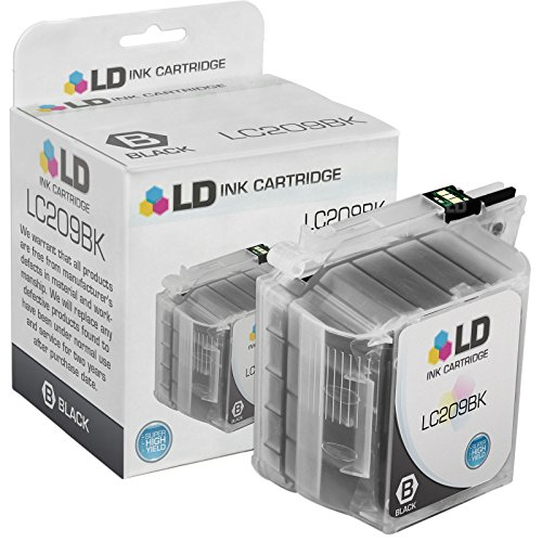LD © Compatible Brother LC209BK Extra High Yield Black Inkjet Cartridge for Brother MFC J5620DW, J5520DW, & J5720DW Printers