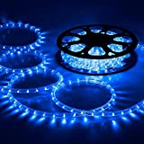 Yescom 50ft Blue LED Rope Light Indoor Outdoor Holiday Valentines Party Disco Restaurant Cafe Decoration 100