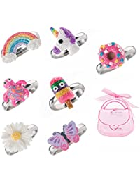 Adjustable Rings Set for Little Girls - Colorful Cute...