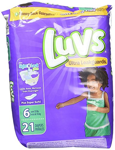 Luvs with Ultra Leak Guards Diapers, Size 6, 21 Count