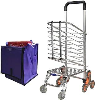 HJYSTC Panier S'élevant, Petite Remorque De Caddie/Chariot/Chariot Se Pliant Portatif/Chariot En Alliage D'aluminium/Roue D'acier Inoxydable De Chariot