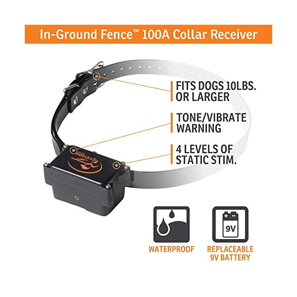 SportDOG Brand In-Ground Fence System – from the Parent Company of INVISIBLE FENCE Brand – Underground Wire Electric Fence – Tone, Vibration, & Shock – 100 Acre Capability