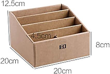 Caja de almacenamiento de oficina Soporte de papel cosmético Contenedor de papelería Mando a distancia Organizador Buzón grande con 4 capas: Amazon.es: Oficina y papelería