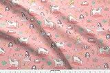 Spoonflower Mermaids Fabric - Unicorns and Mermaids on The Pond by kostolom3000 - Mermaids Fabric Printed on Fleece Fabric by The Yard