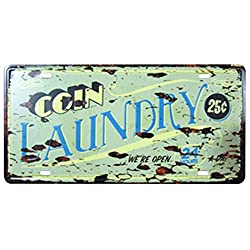 FLY SPRAY Decorative Signs With Saying: Laundry Tin Metal Iron Sign Painting For Wall Home Office Bar Coffee Shop
