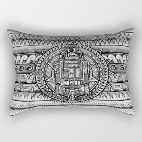 oliyneco Azteca Droid Lienzo de algodón manta almohada ...