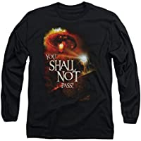 The Lord of The Rings You Shall Not Pass Gandolf & Balrog Adult L-Sleeve T-Shirt