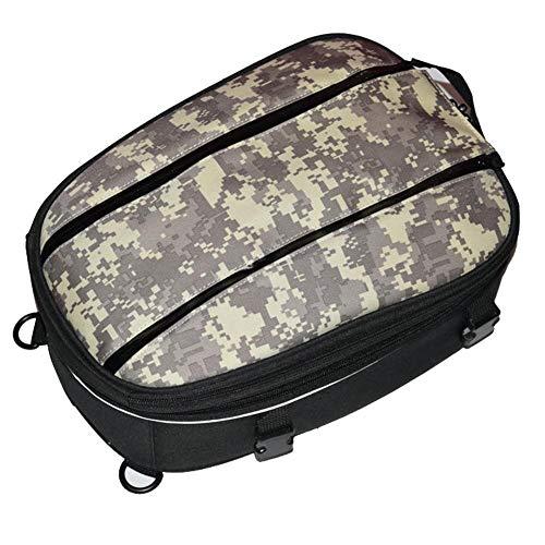 Funihut Motorcycle Tail Bags Back Seat Saddle Bags Kit Large Capacity Backpack Travel Bag Motorbike Rear Seat Rider Pack: