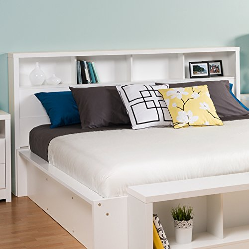 Prepac WHFK-0500-1 Calla Headboard, King, White