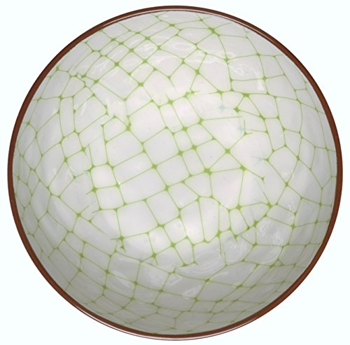 Melange 6-Piece 100% Melamine Bowl Set (Hammered Checks Collection) | Shatter-Proof and Chip-Resistant Melamine Bowls | Color: Lime