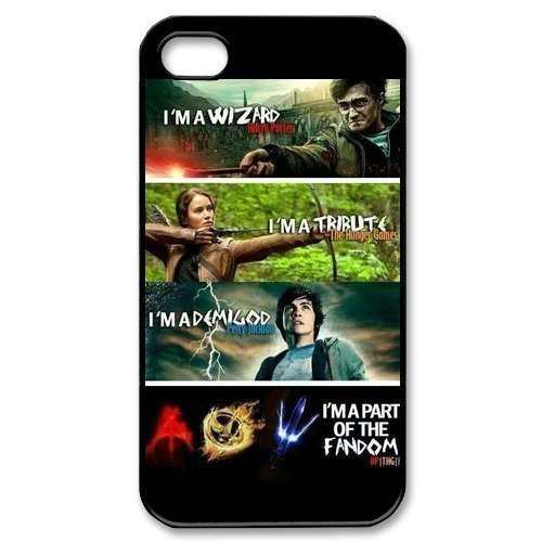 @ALLCASE iPod touch 6 Case ,The Hunger Games Harry Potter Percy Jackson Snap On Best Plastic Protective Case for iPod touch 6 - Black