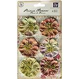 Prima 543518 Pattern Coordinates Mulberry Paper Flower Embellishments, Fairy Flora