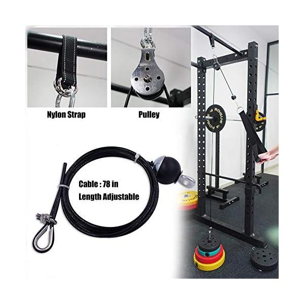 WXG Fitness Pulley Cable Lifting Triceps Rope Machine Workout Longueur réglable Accessoires pour la Maison, Set A accessoires de fitness [tag]