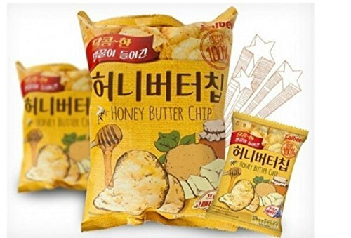 3 Pcs Honey Butter Chip New Korea Potato Snack (60g X 3)
