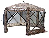 Clam Quick-Set Pavilion Screen Shelter, 12.5' X 12.5' - Camouflage/Black Mesh, Camouflage