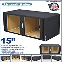 15 Dual Vented Solobaric Slot Ported Sub Box MDF Subwoofer Enclosures