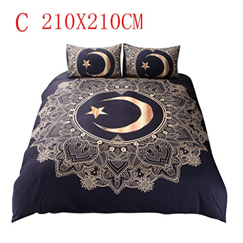 IAMUP Comfortable Simple Marble Bedding Duvet Cover Set Quilt Cover Twin King Size with Pillow ()
