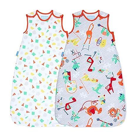 Grobag Pack de 2 Sacos para dormir bebé 1.0/2.5 tog, Multicolor,: Amazon.es: Bebé
