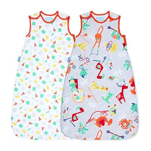 Multicolor, Grobag Pack de 2 Sacos para dormir beb/é 1.0 tog