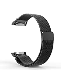 Kepuch Milanese Samsung Gear S2 Band - Electroplating Loop Stainless Steel Straps with Magnetic Closure Clasp for Samsung Gear S2 - Black