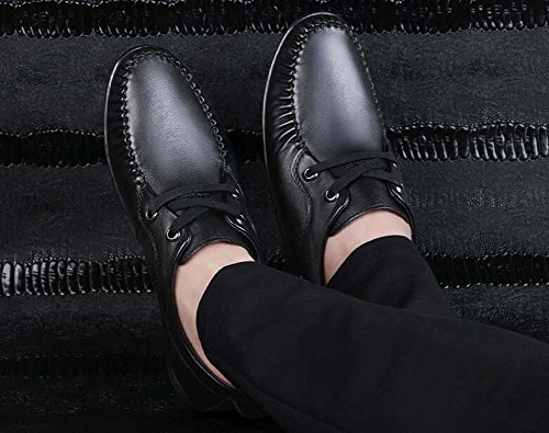Hombres Zapatos Tamaño de Verano Zapatos de de Primavera Negro pies Conjuntos para 42 Zapatos Zapatos Suaves Perezosos de Padre Edad de y Mediana Guisantes Conducción Color StX1I