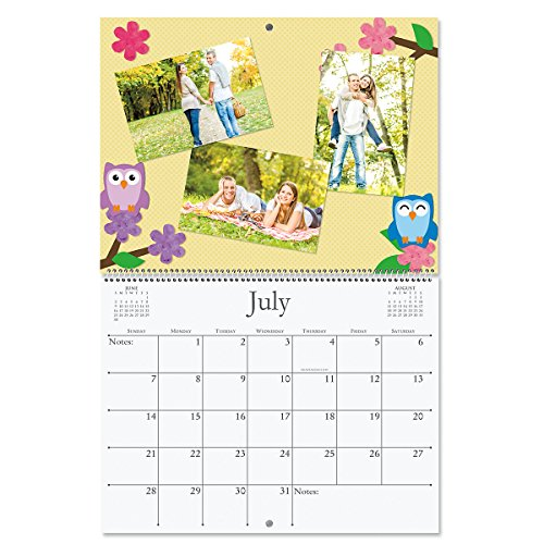 White Photo Wall Calendar - 2019 Blank White Page Crafters' Scrapbooking Photo Calendar - 9