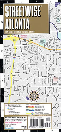 (Streetwise Atlanta Map: Laminated City Center Map of Atlanta, Georgia (Michelin Streetwise Maps))