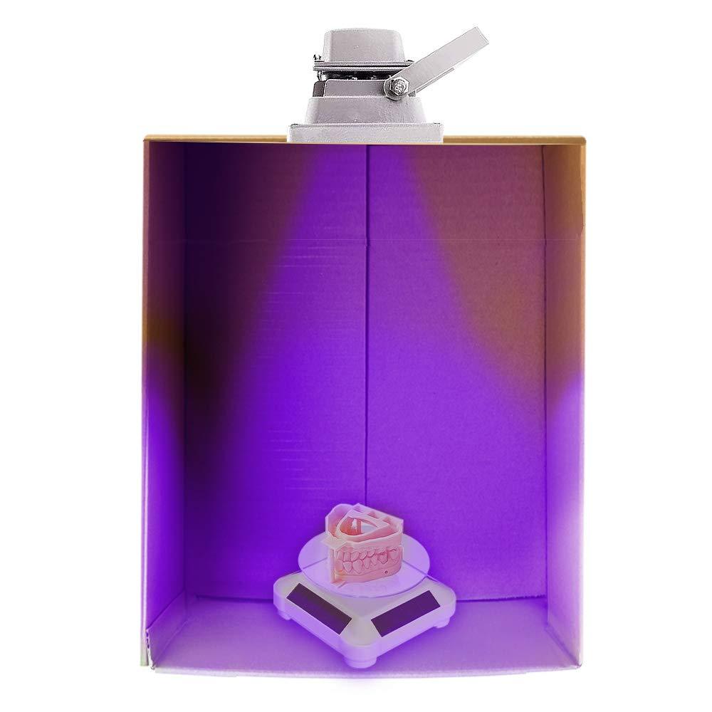 non inclusa Doppio Utilizzato per la Lampada Polimerizzante UV per Stampante 3D LCD//SLA//DLP UniTak3D Giradischi Solare Supporto Rotante a 360 /° Solare o Batteria