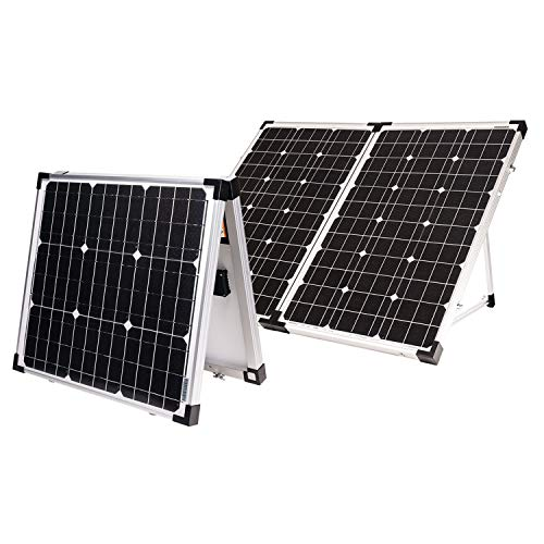 Go Power! GP-PSK-80 80W Portable Folding Solar Kit with 10 Amp Solar Controller, Black