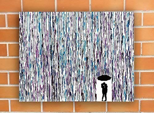 Kissing In The Rain Melted Crayon Art Handmade Home Decor Melted Wax Painting 22quotx28quot