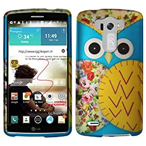 Rubberized Plastic Blue Owl Hard Cover Snap On Case For LG G3 (Accessorys4Less)