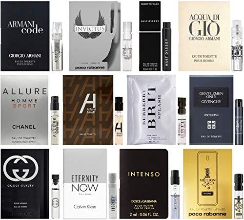 Eternity Men Cologne - Best Selling Designer Fragrance Sampler for Men - Lot x 12 Cologne Vials