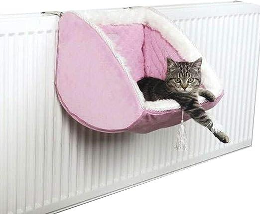 EQT-TEC - Cesta para Gatos, para radiador, Gato, Cesta, Cama para Gatos, Manta Dulce: Amazon.es: Productos para mascotas