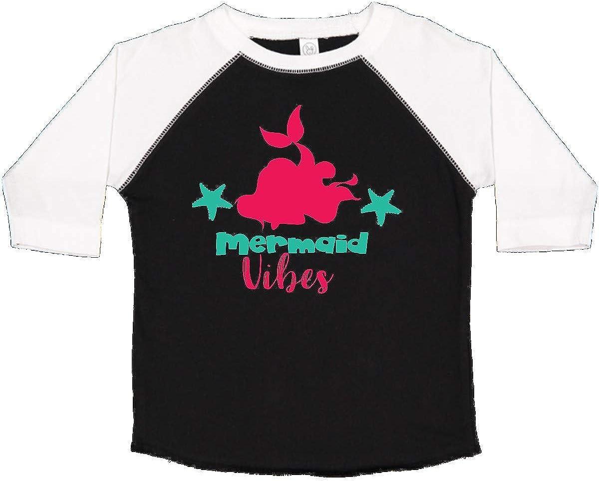 Pink Green Toddler T-Shirt Mermaid Silhouette inktastic Mermaid Vibes