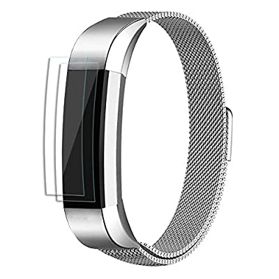 Fitbit Alta and Alta HR Metal Bands By UMTELE, Milanese Stainless Steel Replacement Band For Men & Women (Small & Large Sizes)