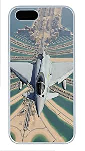 iPhone 5 5S Case Silver Eurofighter Typhoon PC Custom iPhone 5 5S Case Cover White