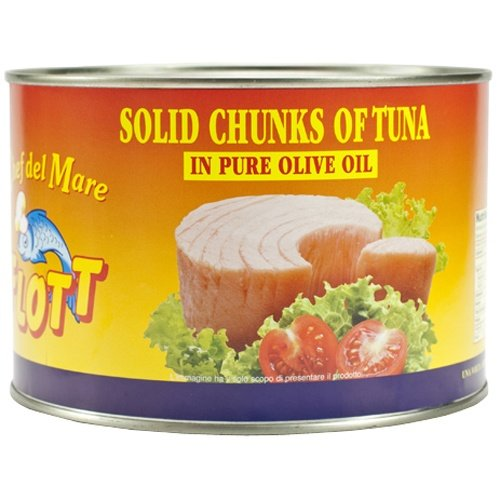 Solid White Tuna Chunks in Olive Oil - 1 can, 3 lb