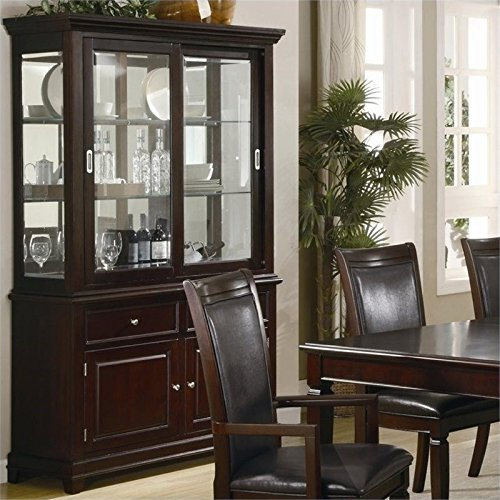 walnut china cabinet - 9