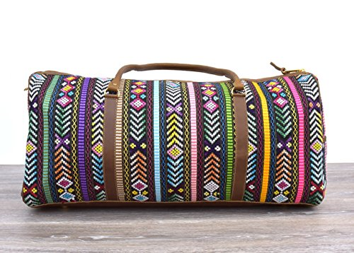 Woven Carry On - Vintage Mayan Textile Duffel Bag - No. 871